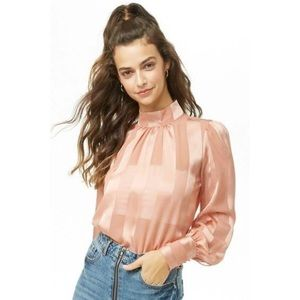 shadow striped top in blush